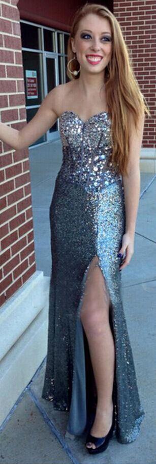 Sequins Mermaid Beading Prom Dress Long Evening Dress Party Dress