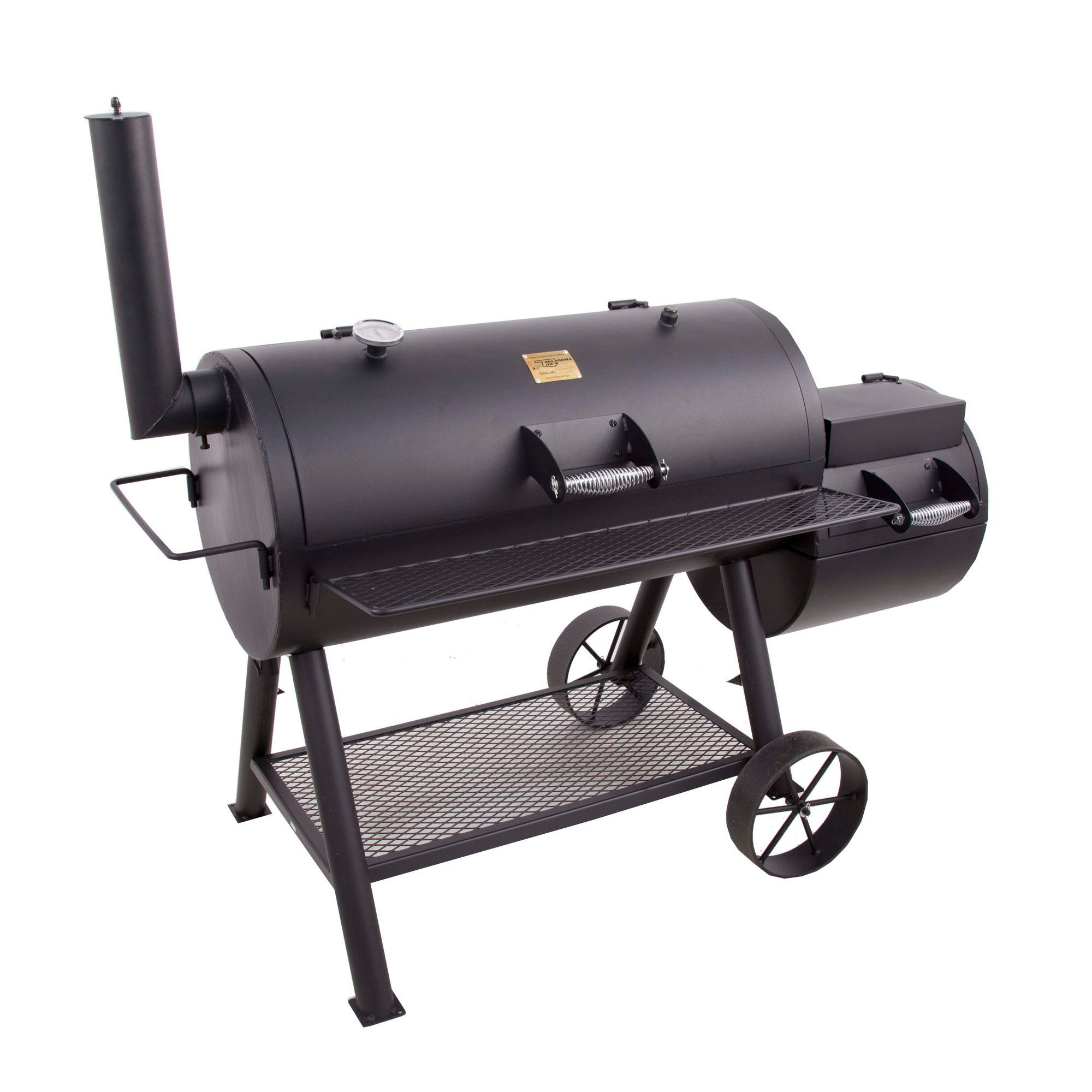 oklahoma joe 39 s longhorn offset charcoal grill with smoker grills i love to grill pinterest. Black Bedroom Furniture Sets. Home Design Ideas