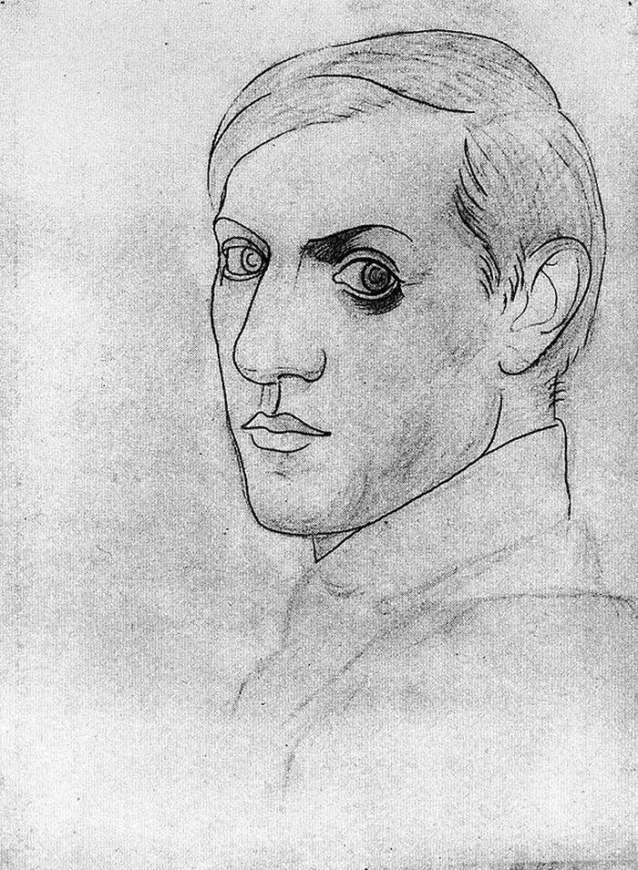 Picasso. Self-portrait 1917. 35 years old.