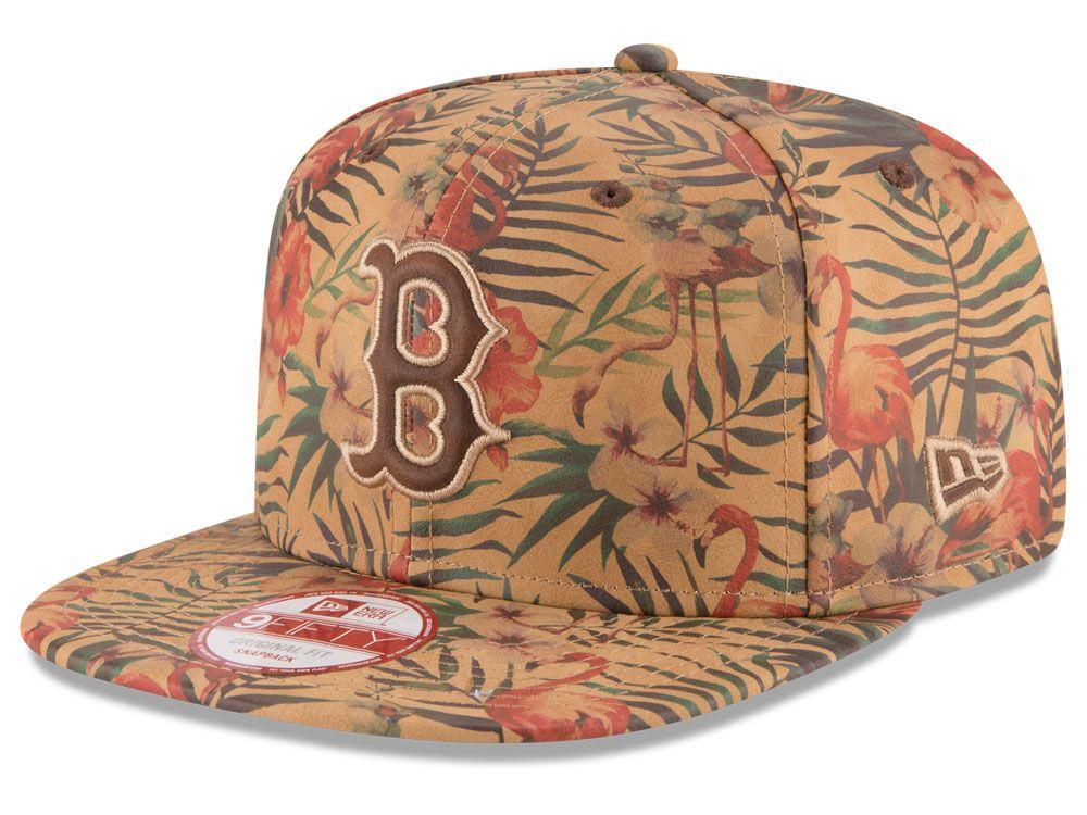 Boston Red Sox New Era MLB Vintage Trop 9FIFTY Snapback Cap ... cdd319de29d