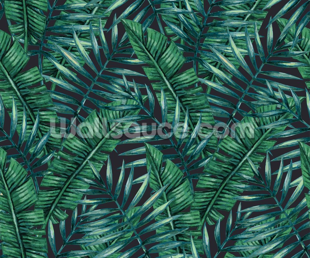 Dark Tropical Leaf Wallpaper Wallsauce US in 2020