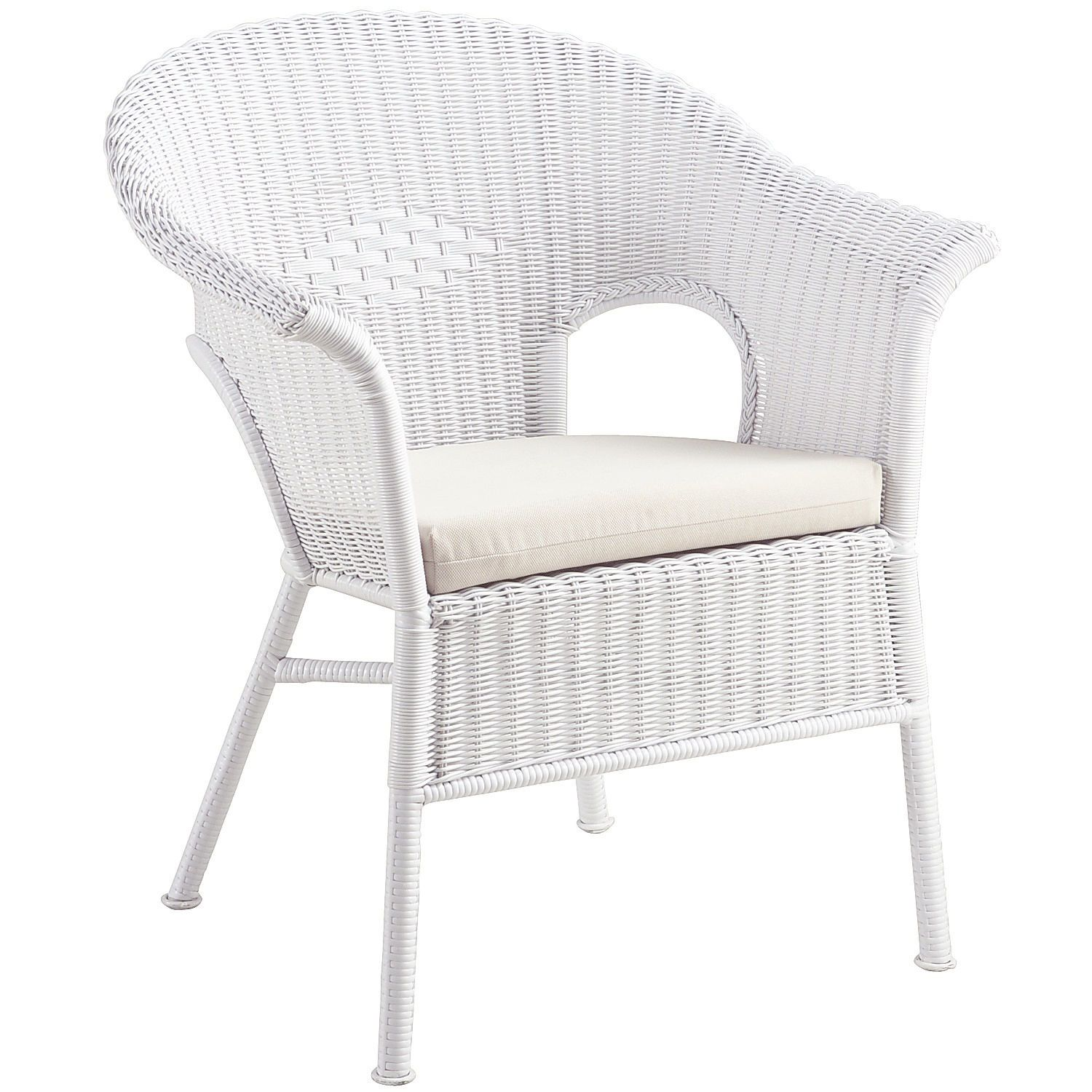 Charming Casbah White Stacking Chair