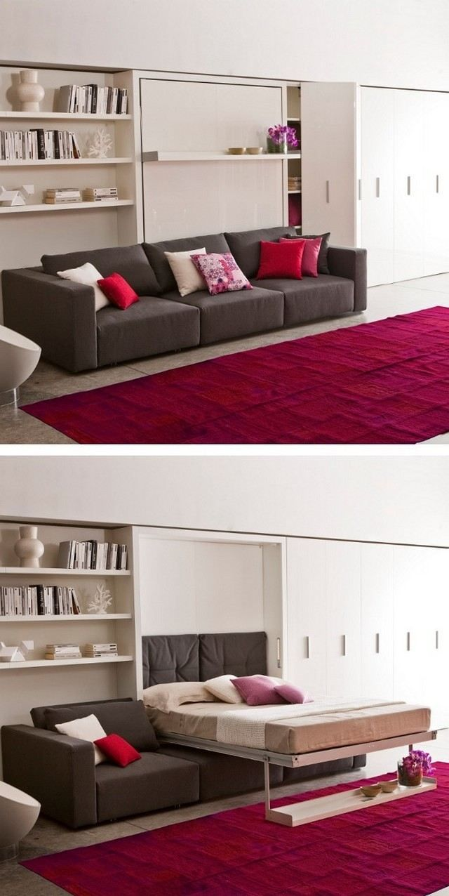 ausziehbares Sofa moderne Designer Möbel Ideen Wandregal | ♡ Detská ...