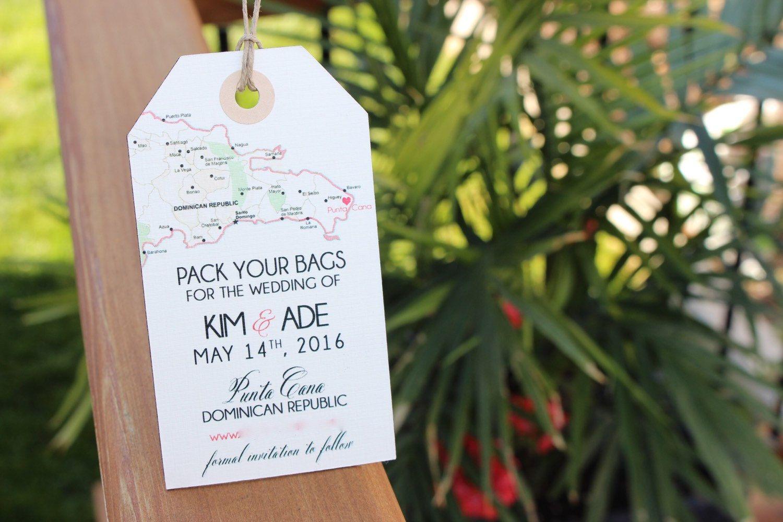 Wedding invitation Dominican Republic Punta Cana Save