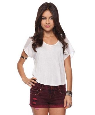 Forever 21  Sheer Should Top - White