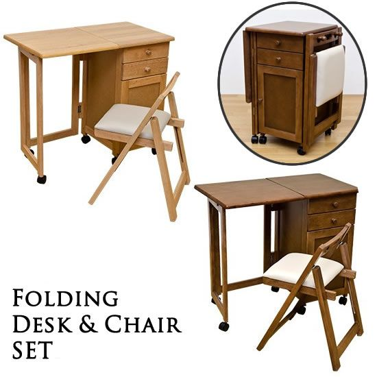 Drawer Chair Google Search Desk And Chair Set Desk Set Folding Desk