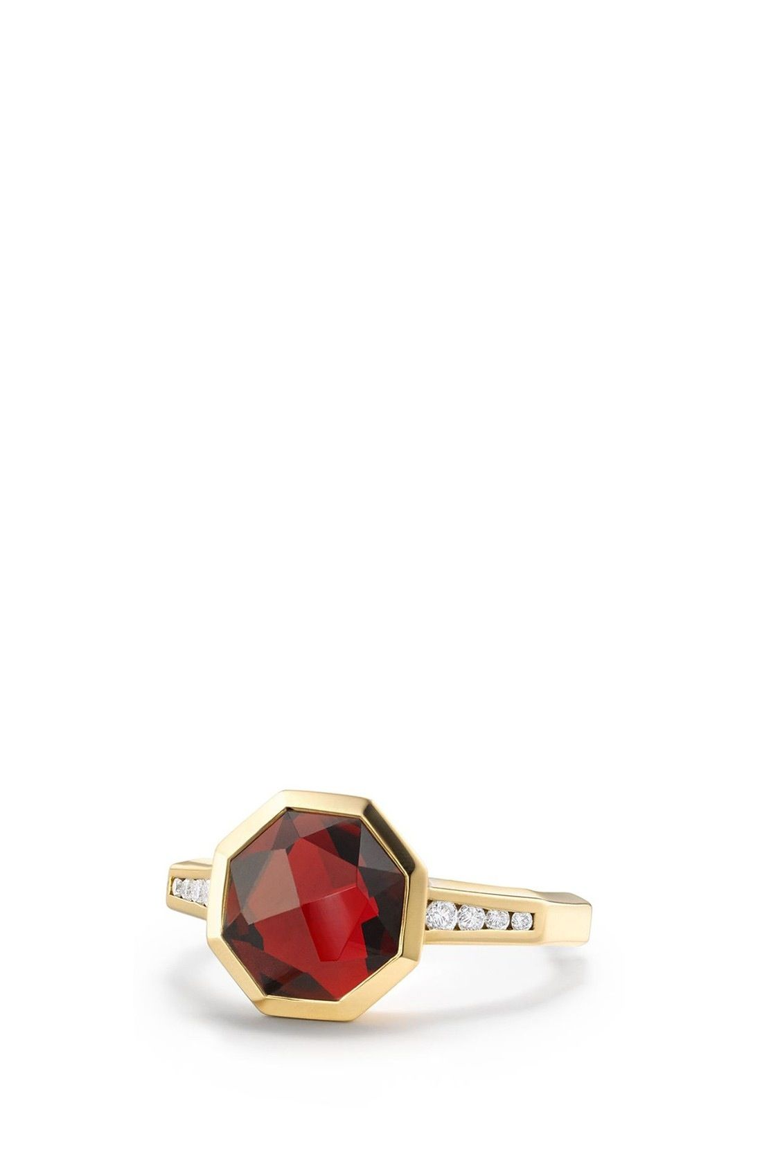 David Yurman Guilin Octagon Ring with Diamonds in 18K Gold available at #Nordstrom