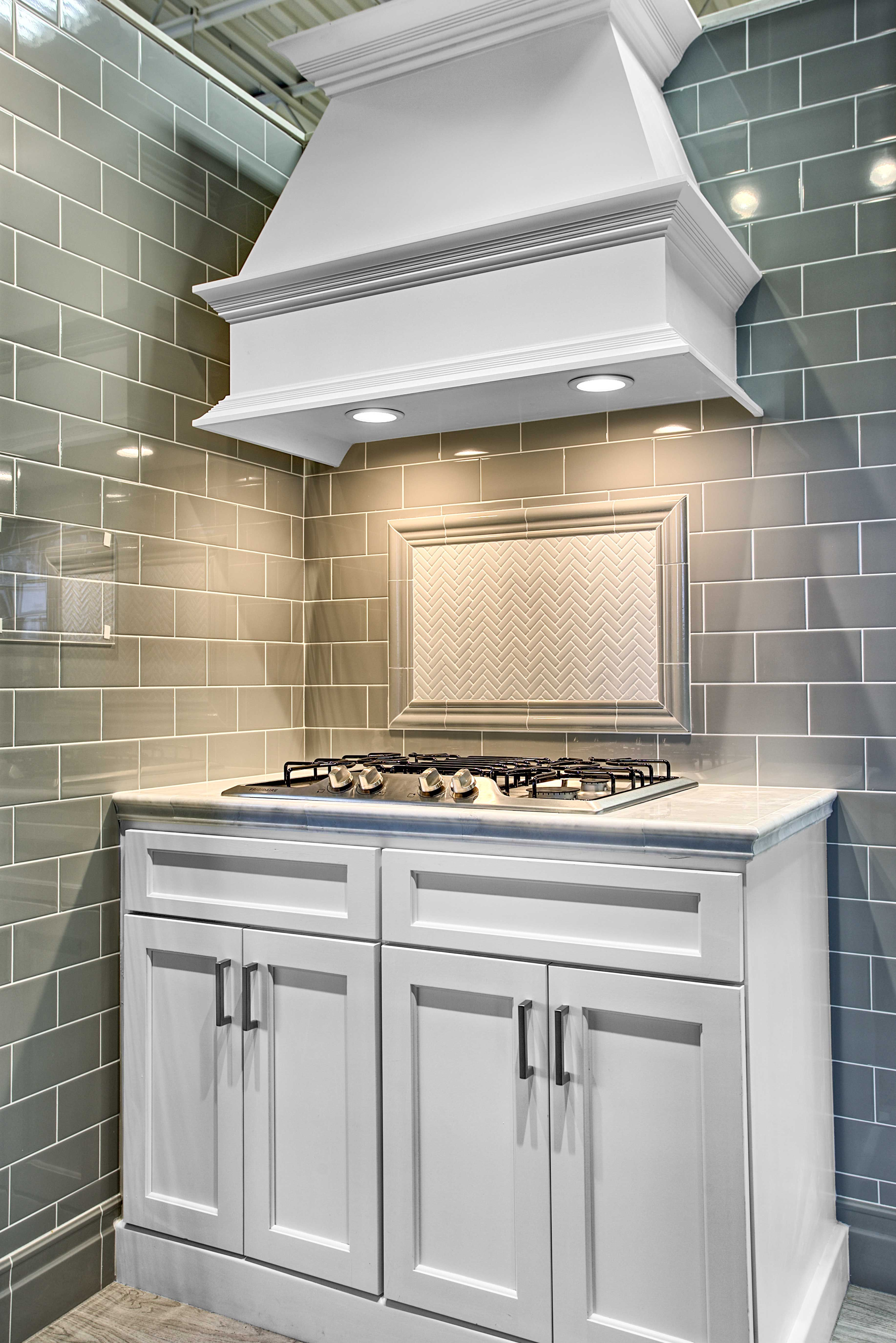 Kitchen wall tile - Imperial Ice Grey Gloss Ceramic Subway Tile ...