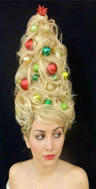 Tannenbaum Kostum Selber Machen Diy Anleitung Frisuren Weihnachten Feiertagsfrisuren Haar Styling