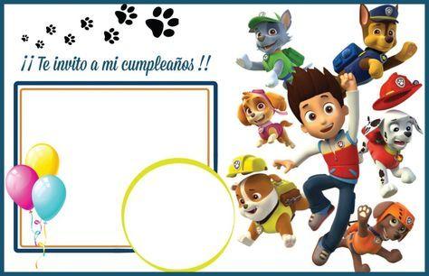 La Mejor Selección De Invitaciones De La Patrulla Canina Para Invitacion Cumpleaños Patrulla Canina Invitaciones De Paw Patrol Hacer Invitaciones De Cumpleaños