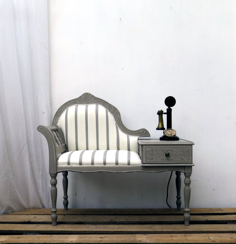 Tel Fono Vintage Asiento Reducido D Cada De 1970 Hizo Tel Fono  # Muebles Raros De Madera