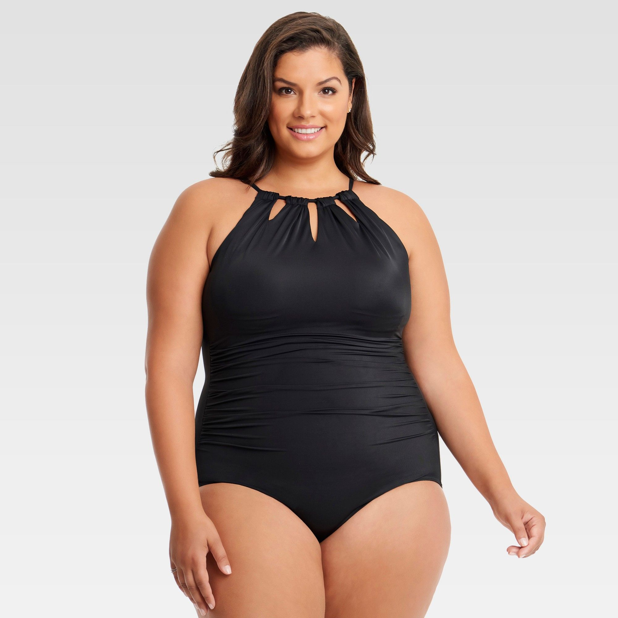 e17fe1bfef7f2 Plus Size Dreamsuit by Miracle Brands Women s Plus Slimming Control Cut Out One  Piece Swimsuit - Black 16W