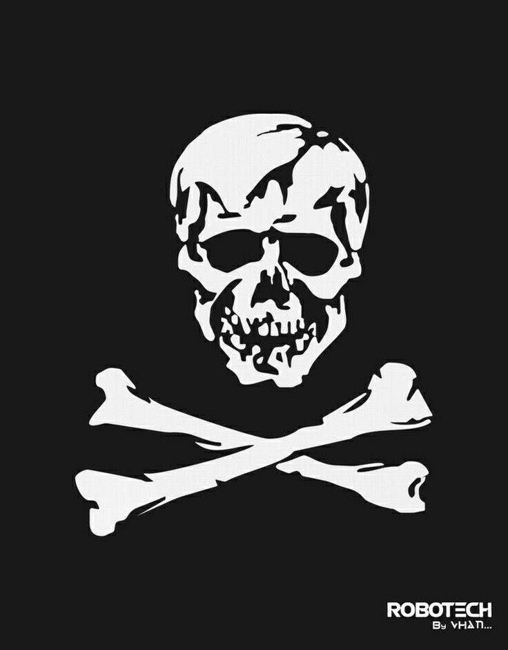 Macross Frontier Skull Squadron Logo Robotech Anime Manga T Shirt Tee