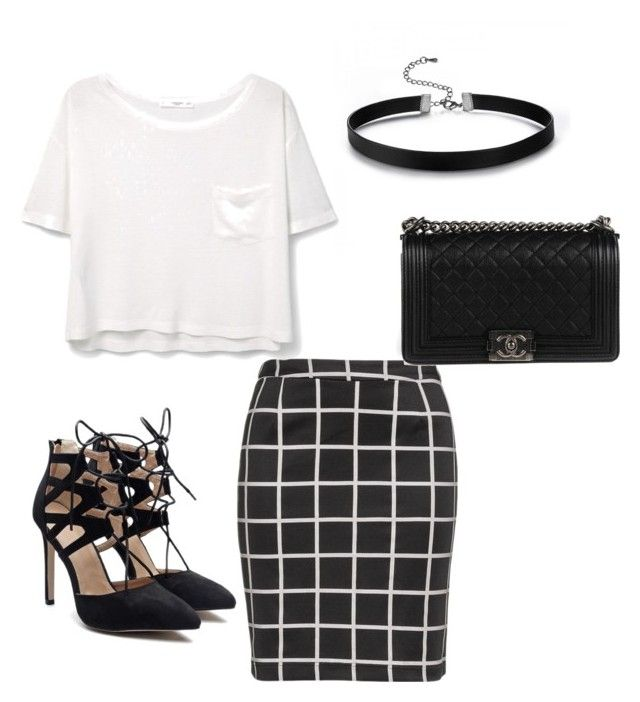 Untitled #11 by breelynn123 on Polyvore featuring polyvore, fashion, style, MANGO, Zizzi, Chanel and clothing