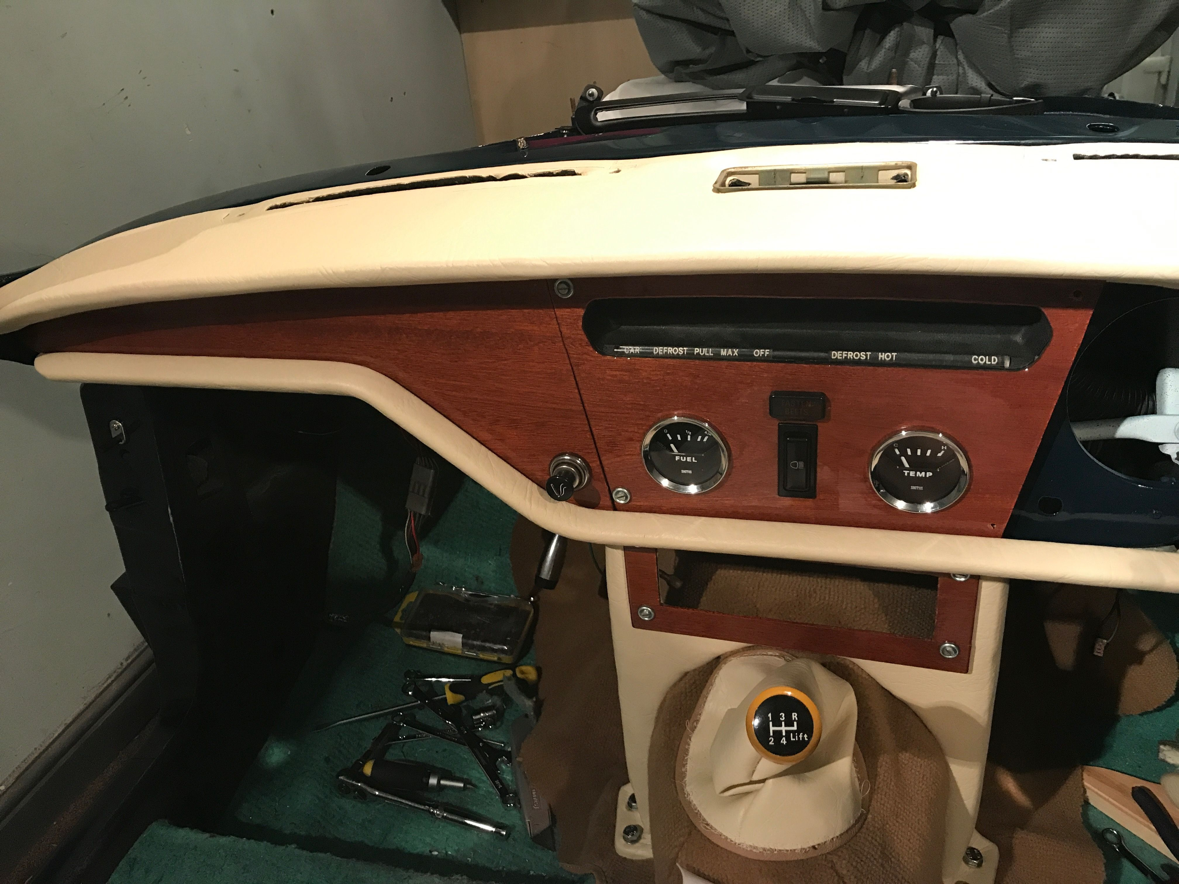 Triumph Spitfire 1500 The Dash In Cream Cover And My Newly