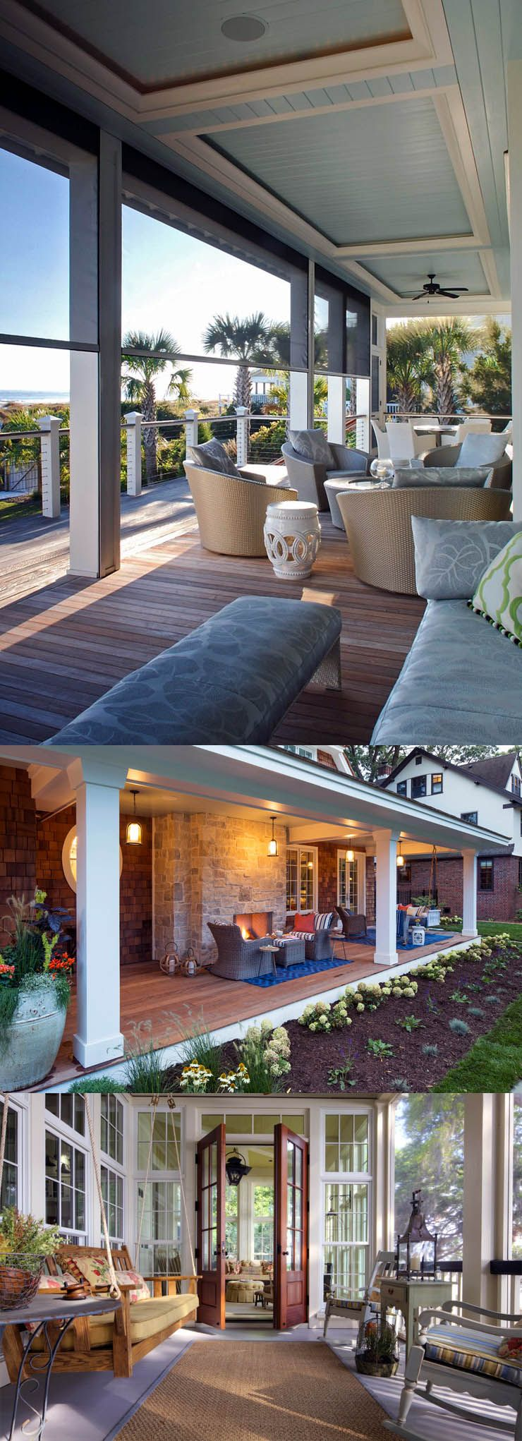 5 Back Porch Ideas & Designs For Small Homes | House with ... on Back Deck Ideas For Ranch Style Homes id=52444