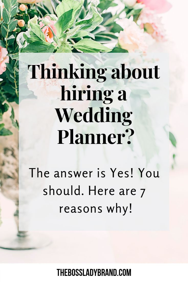 Do I need a Wedding Planner? I'm sharing 7 Good reasons to hire a wedding planner and how it ...