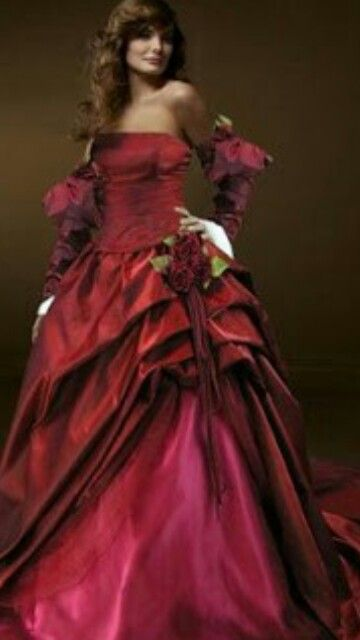 Beautiful | Red Gown | Pinterest | Red gowns, Victorian and Gowns