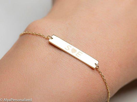 Personalized Friendship Bracelet Couples Bracelet Best Etsy Girlfriend Gifts Engraved Bracelet Girlfriend Jewelry