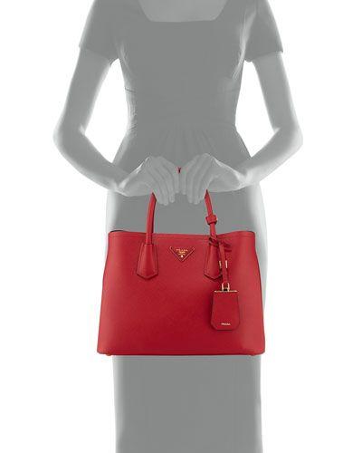 be6f738b2ba5 NEIMAN MARCUS -- Prada Saffiano Cuir Small Double Bag