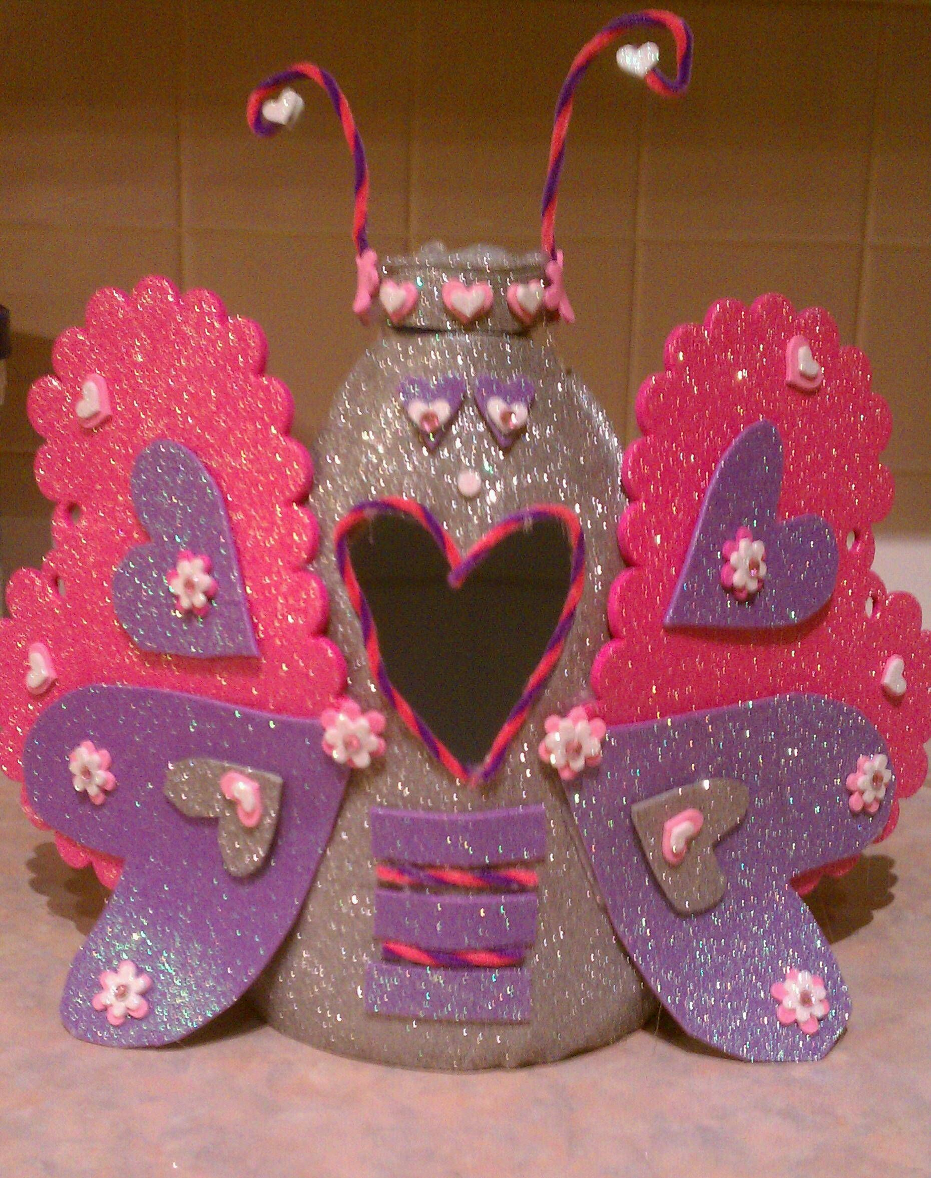 My Daughters Butterfly Valentine Box ...we Had So Much Fun Makin It .