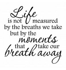 Life Is Not Measured By The Breaths We Take Life Is Not Measured