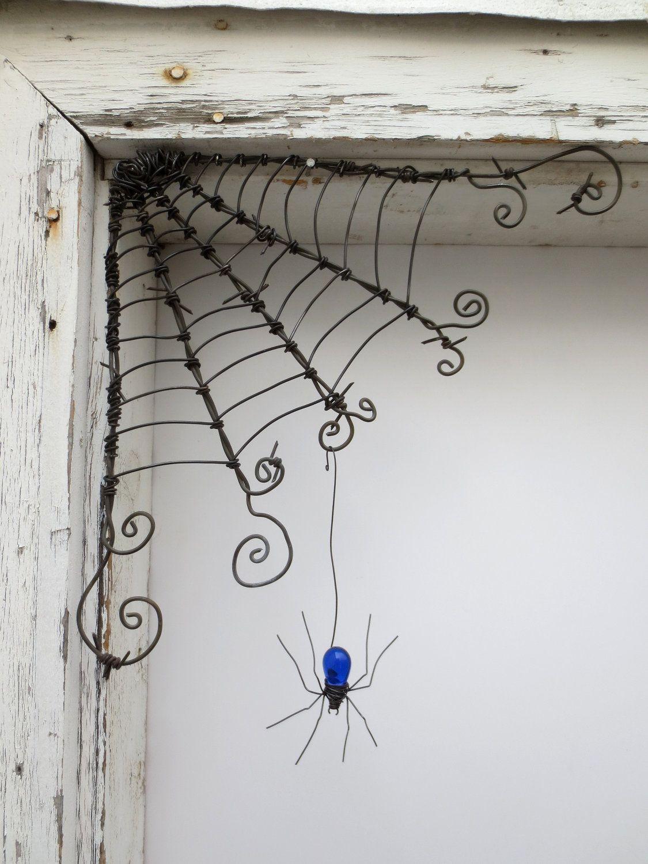 Czechoslovakian Blue Spider Dangles From 12\