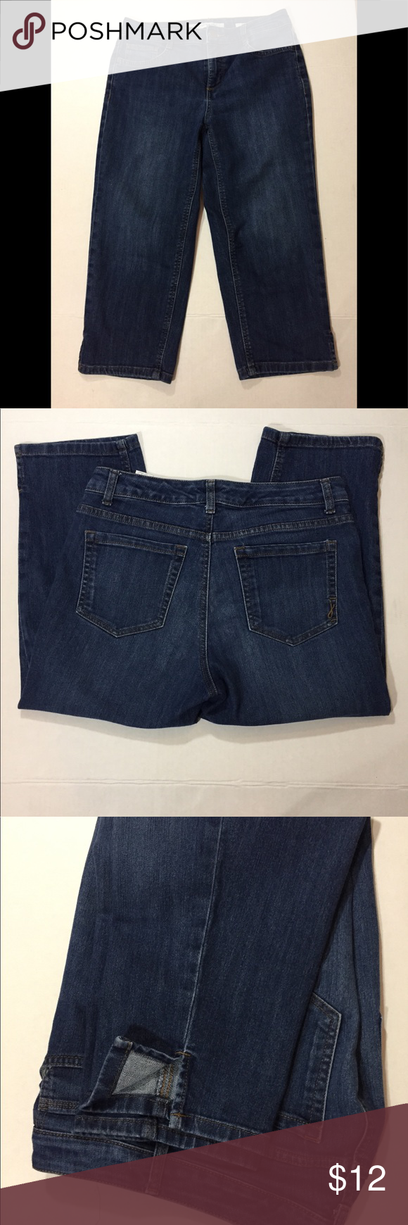 Jones New York Denim Soho Crops Size 4 Women Jones New York Clothes Design Washed Jeans