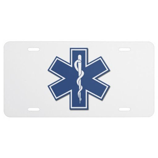 EMS Star Of Life License Plate