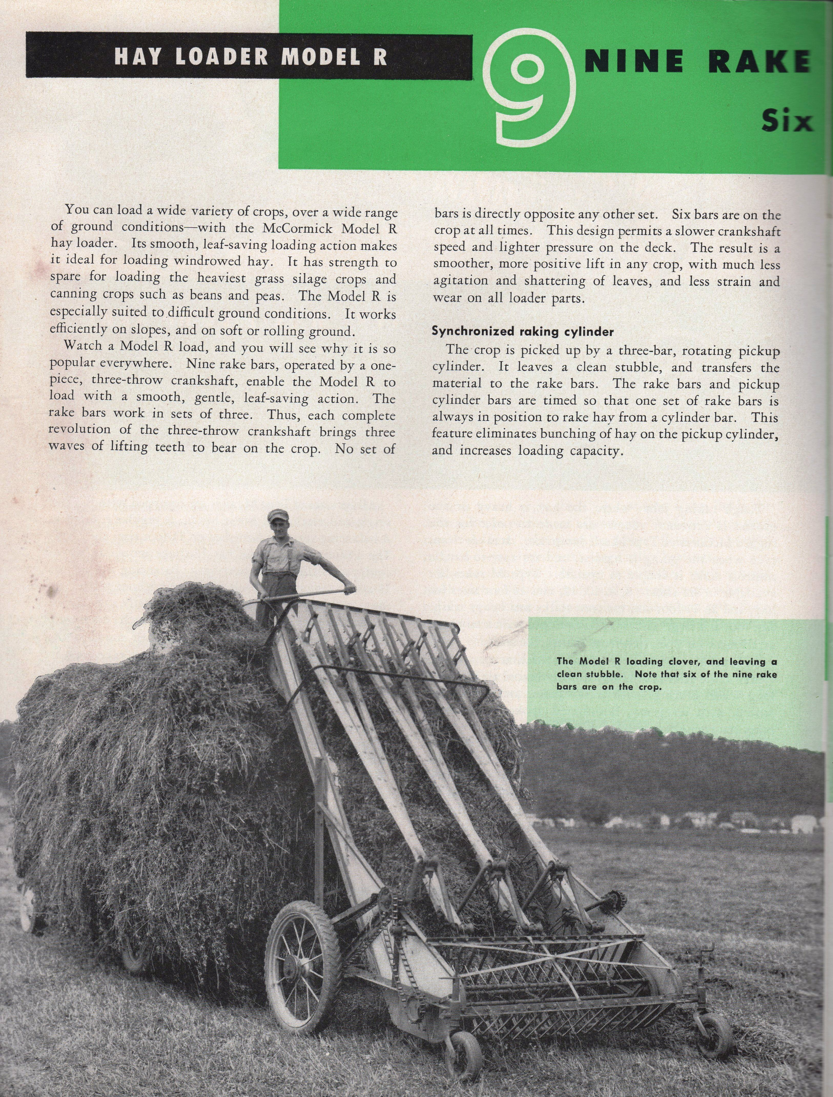 1953 McCormick Rakes and Loaders | Red Iron | Old farm