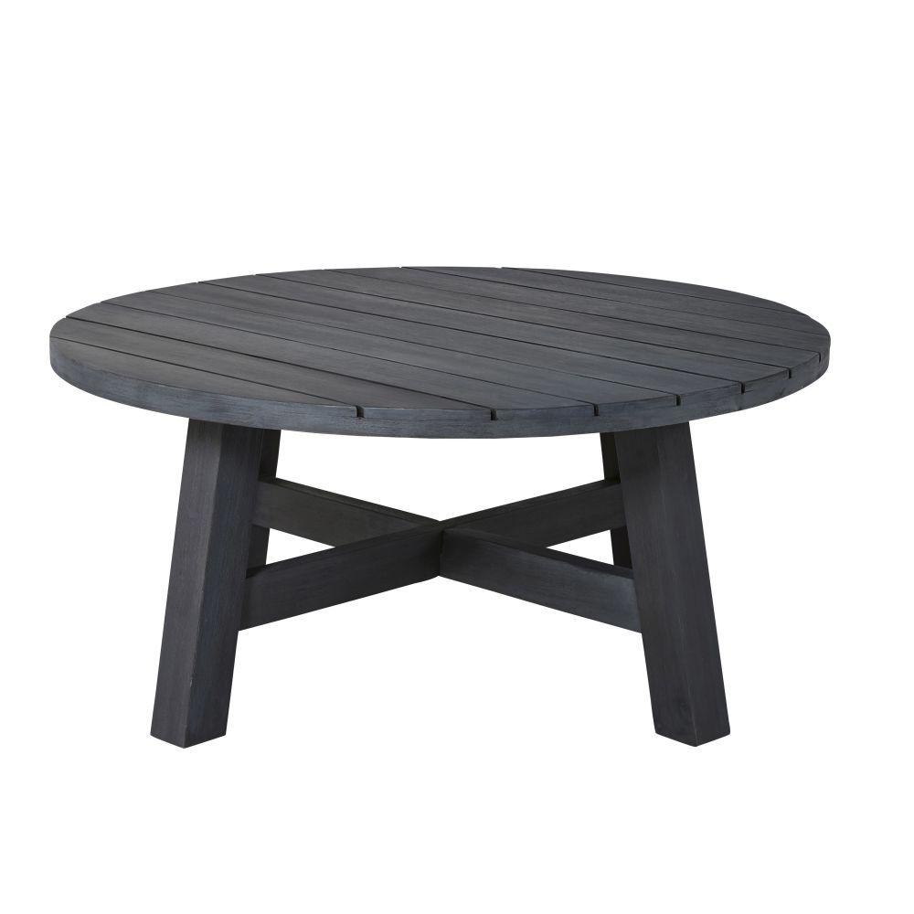 Table basse de jardin ronde en acacia massif noir in 2019 | Products ...