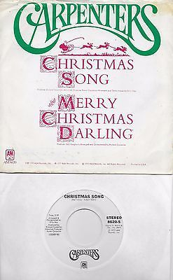 christmas songs and album carpenters christmas song merry christmas darling rare promo 45 with picsleeve