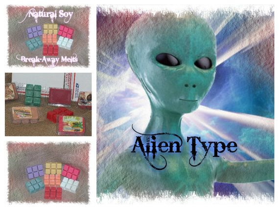 ALIEN Type  Natural Soy  Round Tarts 6  or by SensuallySensational