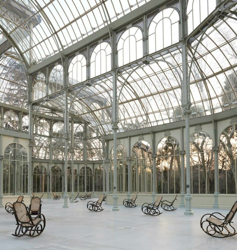 Palacio De Cristal Parco Del Retiro Madrid Cast Iron Architecture Contemporary Modern Art Installation Art