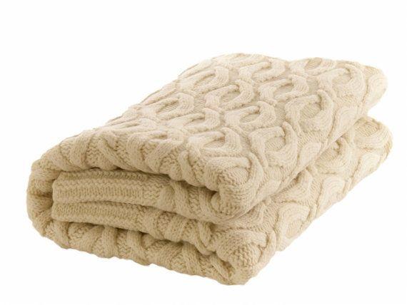 Decke Aus 100 Merinowolle Gestrickte Decke Wolldecke Weisse
