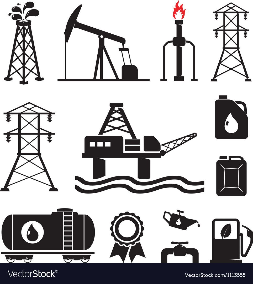 Gas Oil Set Royalty Free Vector Image Vectorstock Sponsored Set Royalty Gas Oil Ad Oil Rig Oil And Gas Rigs