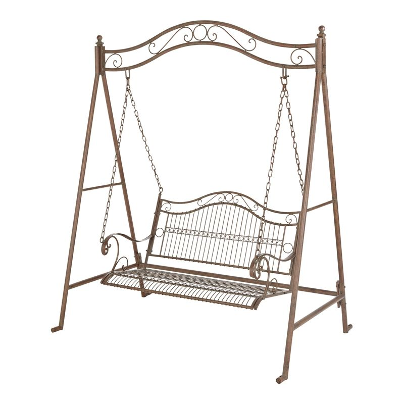 Marquee 2 Seater Rustic Iron Swing Seat With Ground Pegs I/N 3191282 ...