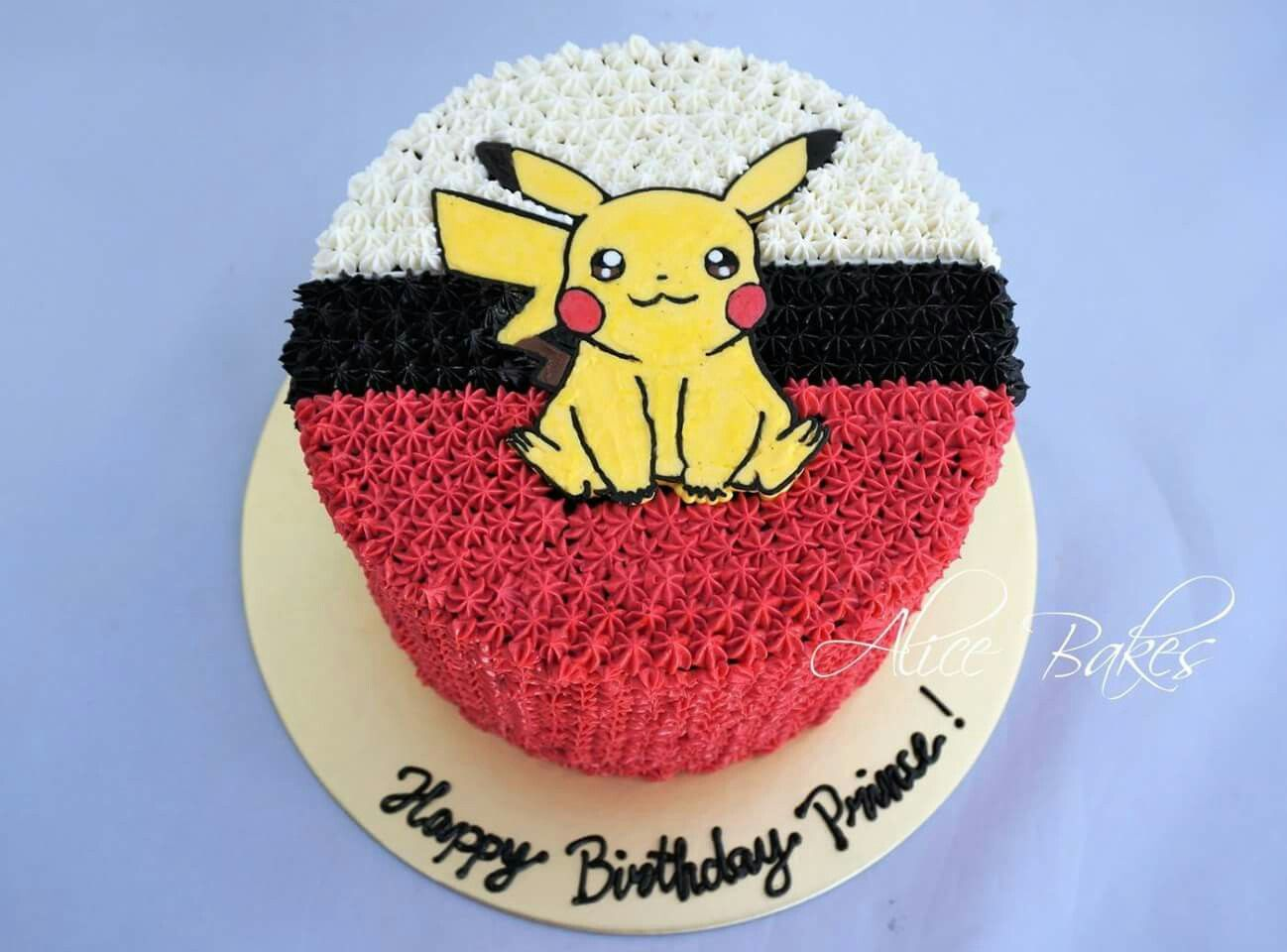 Handpiped Buttercream Customised Cakes Pokemon Pikachu Theme