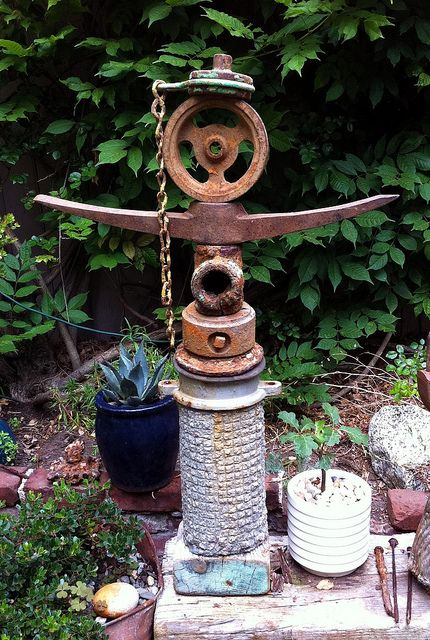 Rusty Junk Garden Art,,,,,,,,,WE CAN DO THAT