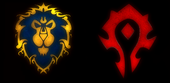 Alliance And Horde Logos From Wow World Of Warcraft Characters World Of Warcraft Geek Tattoo