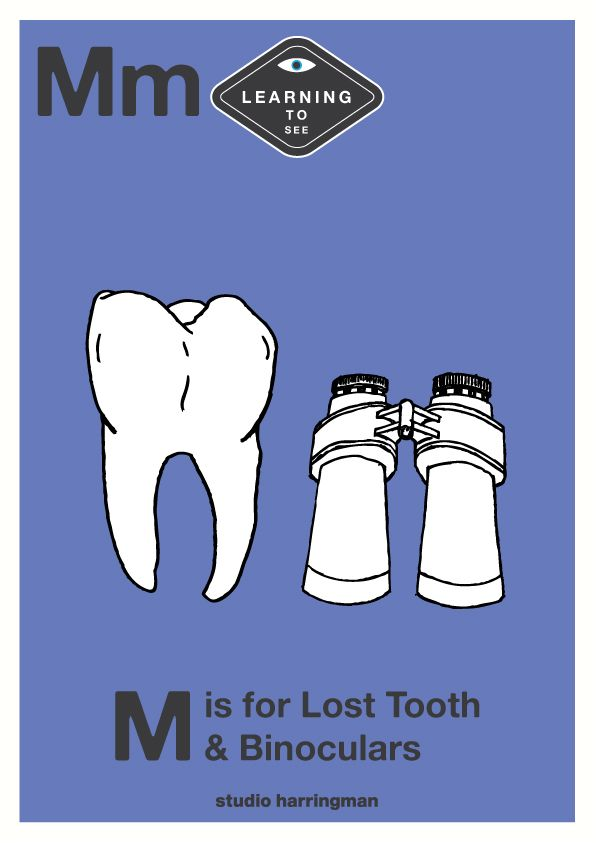 Mm - M is for Lost Tooth and Binoculars