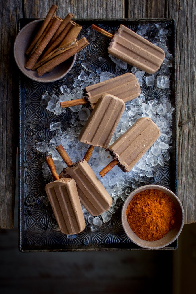 Vegan Mexican Chocolate Popsicles