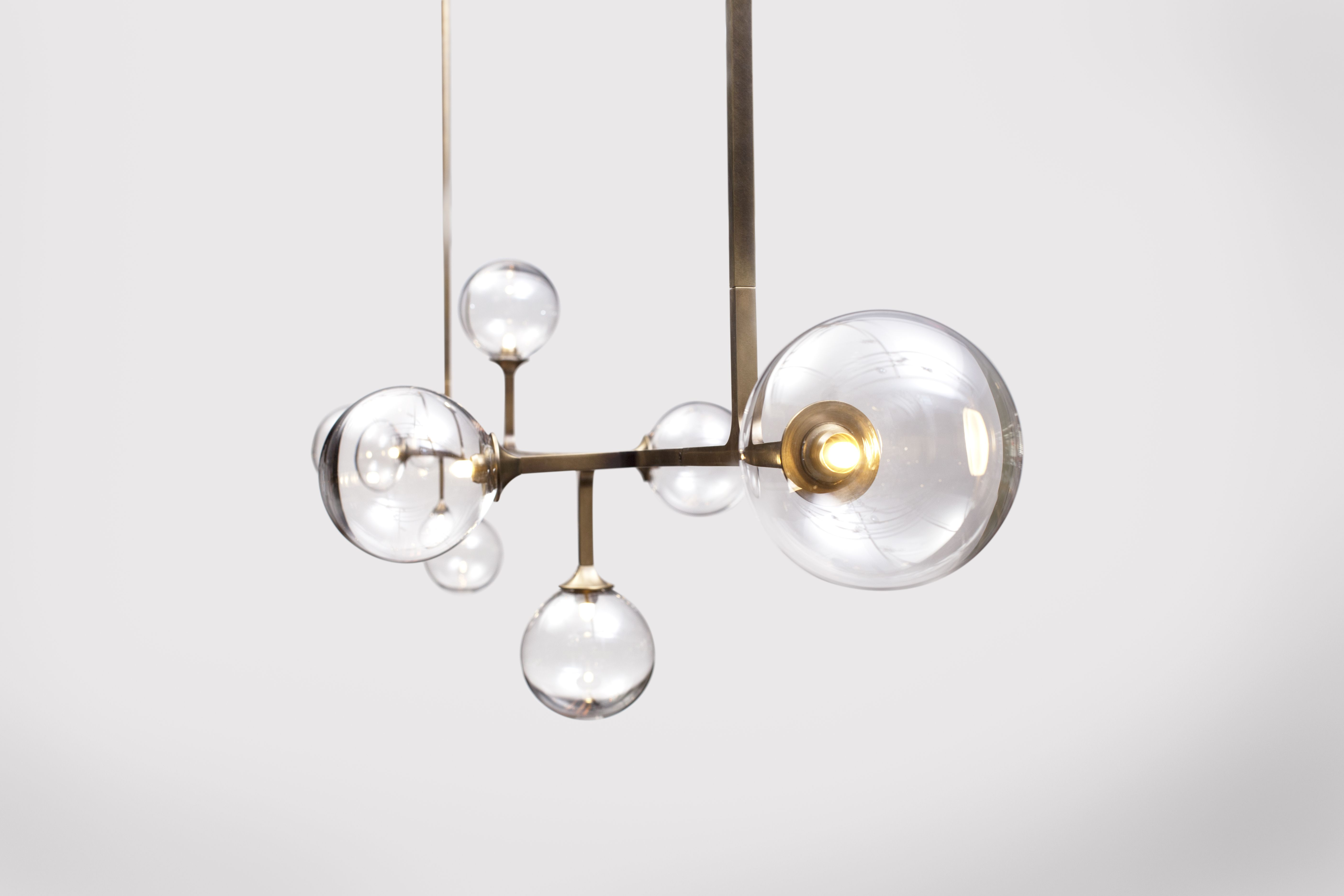 The Helix Collection Was Designed As A System Of T Shaped Square Tube Modules Handcrafted In Brass Each End Has A L Luminaire Luminaire Design Pendant Light