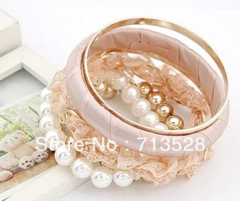 2.70 euro incl shipping Min order $10(Mix order) new fashion Multilayer lace Pearl Bracelet
