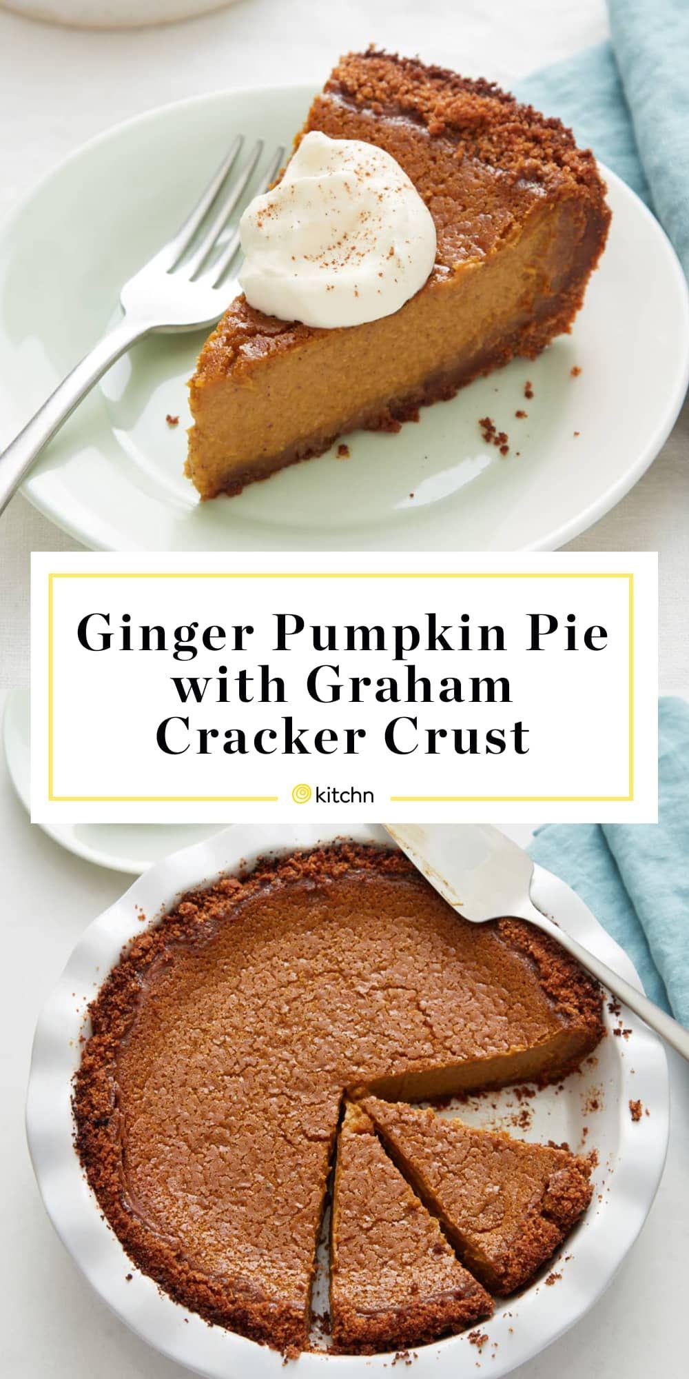 Recipe Ginger Pumpkin Pie With Graham Cracker Crust Recipe Easy Pumpkin Pie Homemade Graham Crackers Graham Cracker Crust Recipe