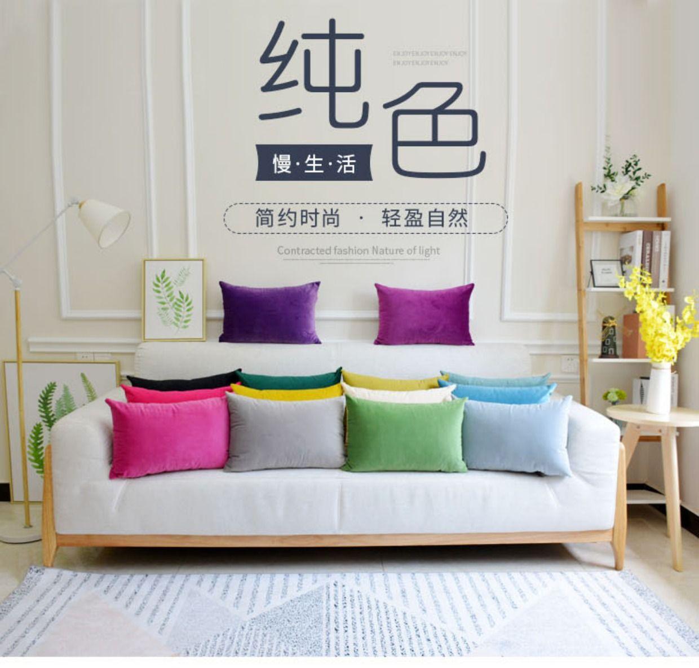 New Pure Velvet pillow cushion European sofa rectangular