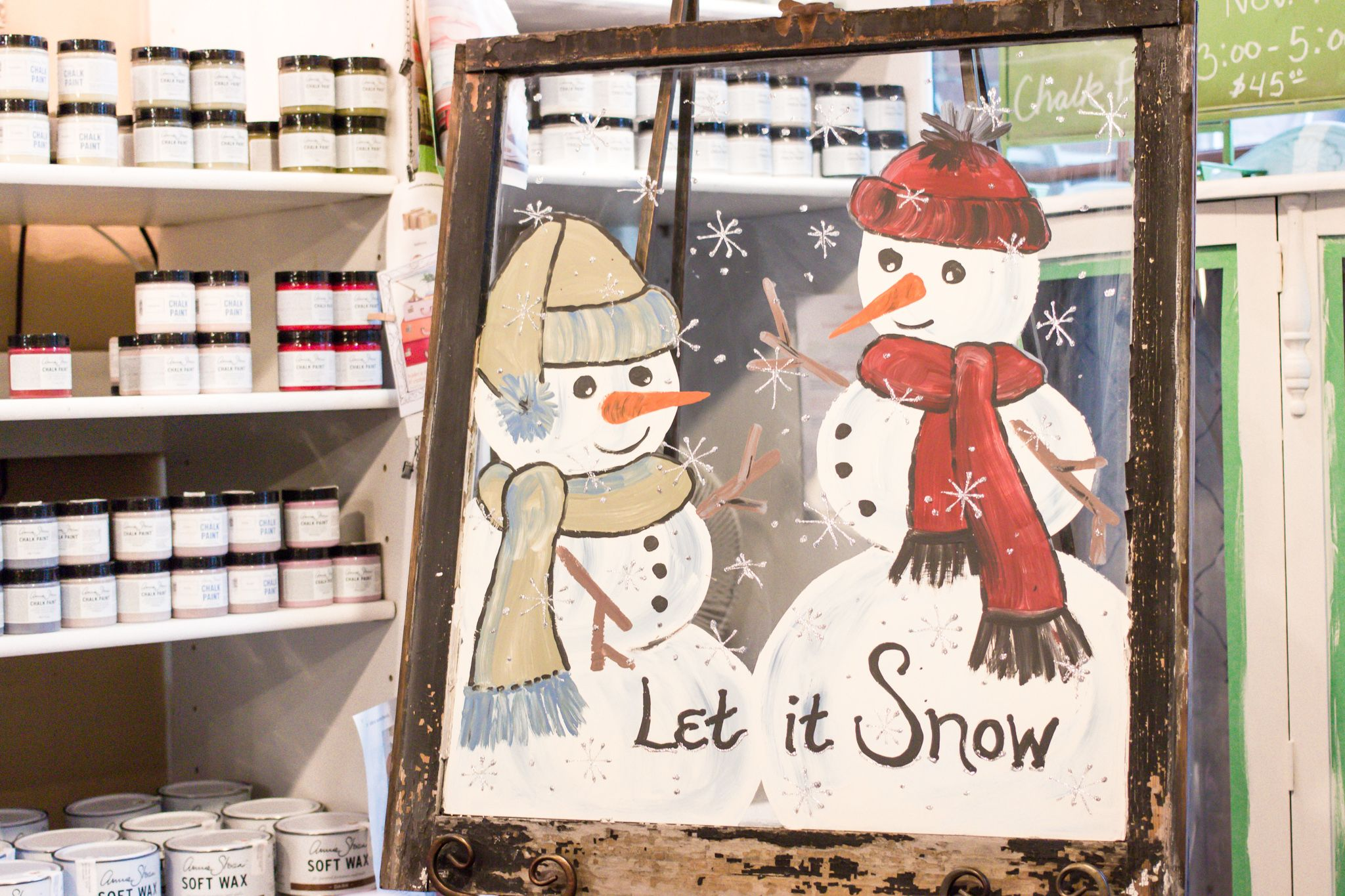 Class Alert! Special Holiday Workshop. Saturday, Nov. 7th 3:00pm-5:00pm. Guest instructed by Heidi Fields at Elly's Tea & Coffee. Window & all painting supplies are provided, $45. 18 spots left! Call to reserve your spot, 563.299.4940