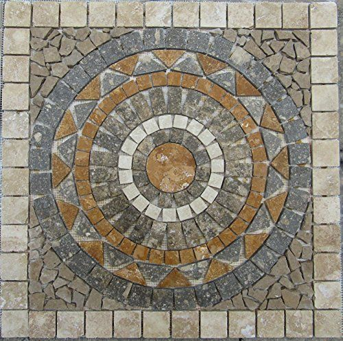 Tumbled Travertine Indoor or Outdoor, Floor or Wall Art Medallion Mosaic Stone Deals http://www.amazon.com/dp/B015AFMLSS/ref=cm_sw_r_pi_dp_AGg9vb1QVMYRT
