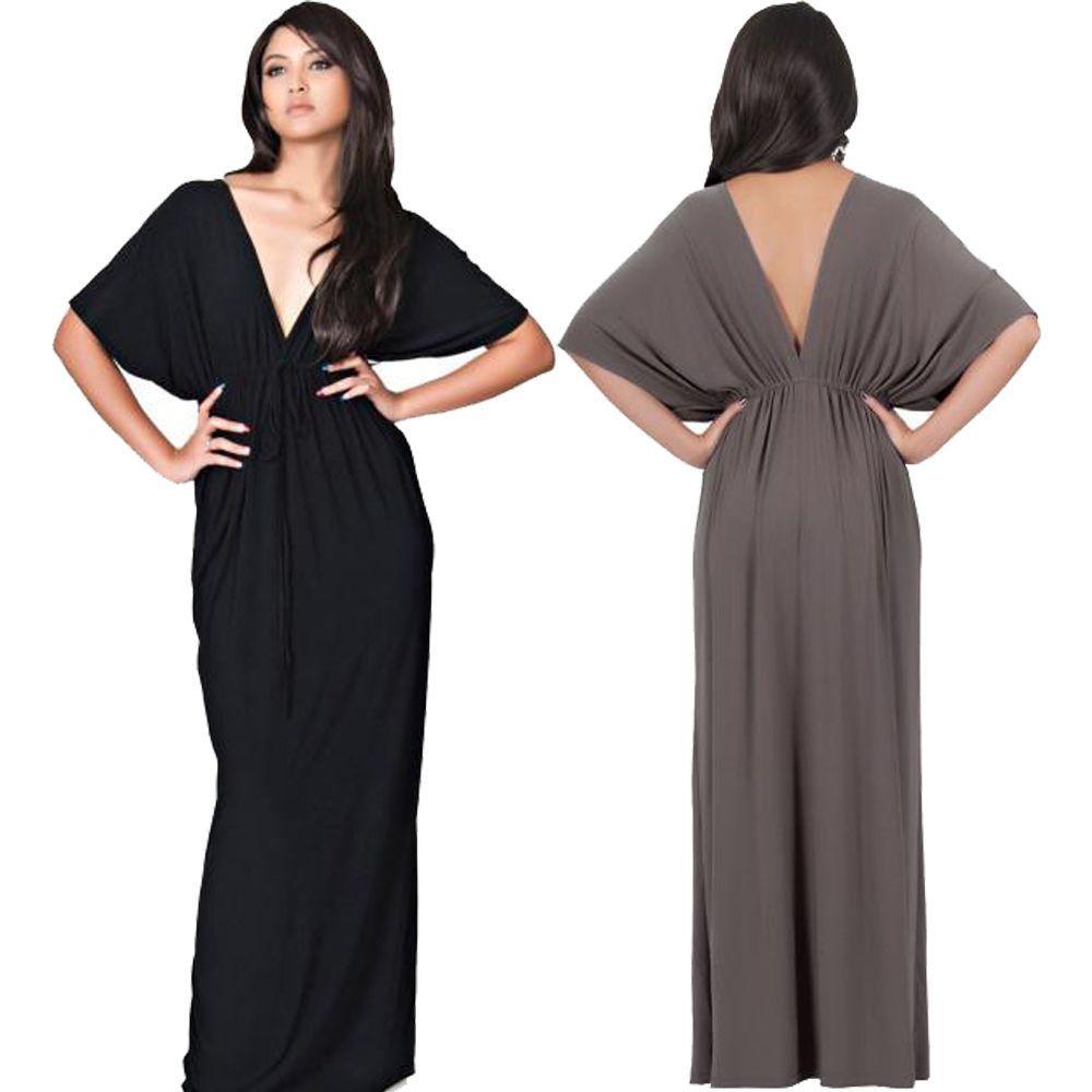 women plus size solid loose half sleeve backless deep v bandage