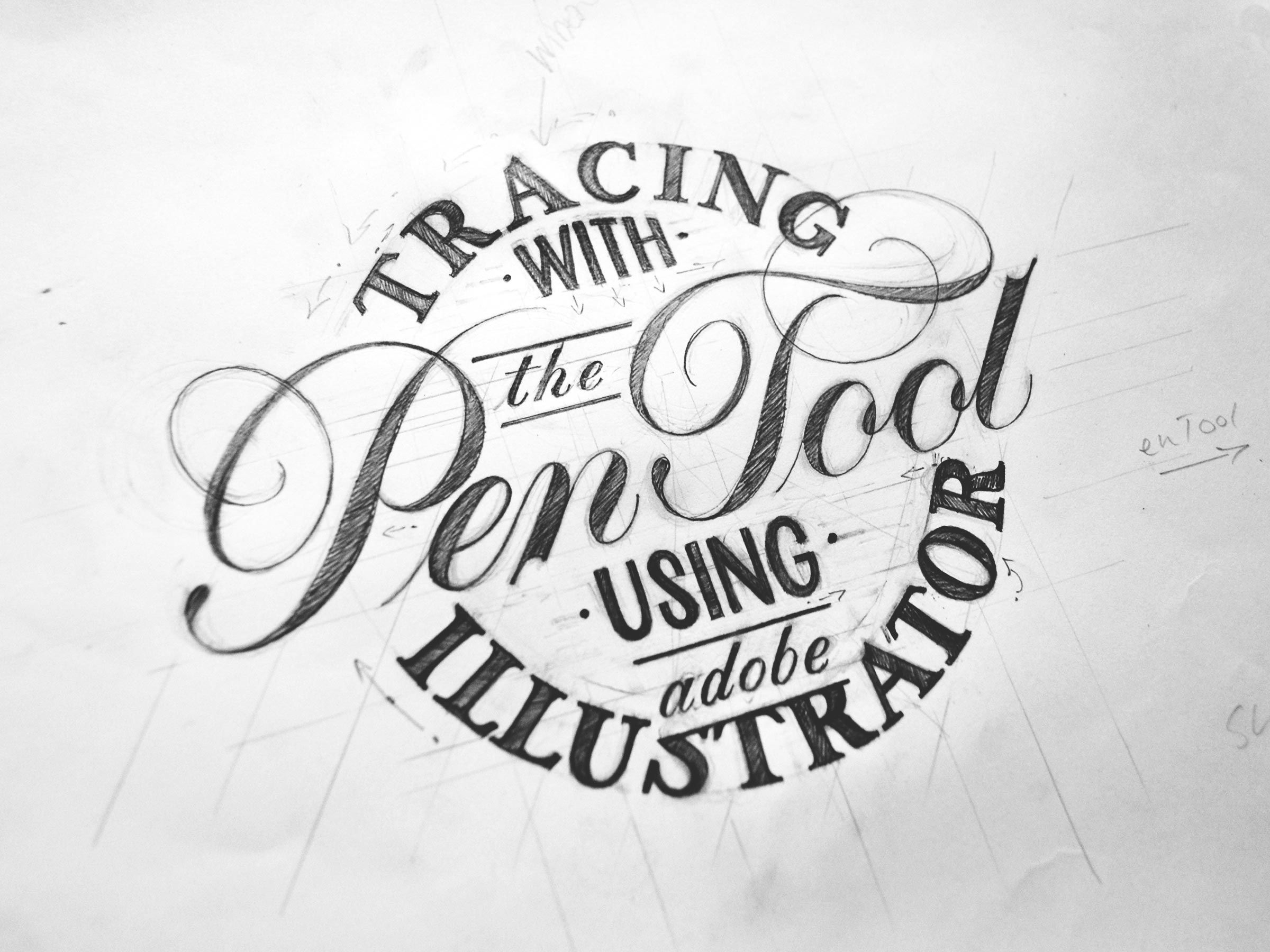 Tracing With The Pen Tool Using Adobe Illustrator
